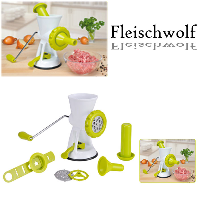 fleischwolf manuell fleisch zerkleinerer wurstmaschine spritzgeb ckaufsatz green ebay. Black Bedroom Furniture Sets. Home Design Ideas