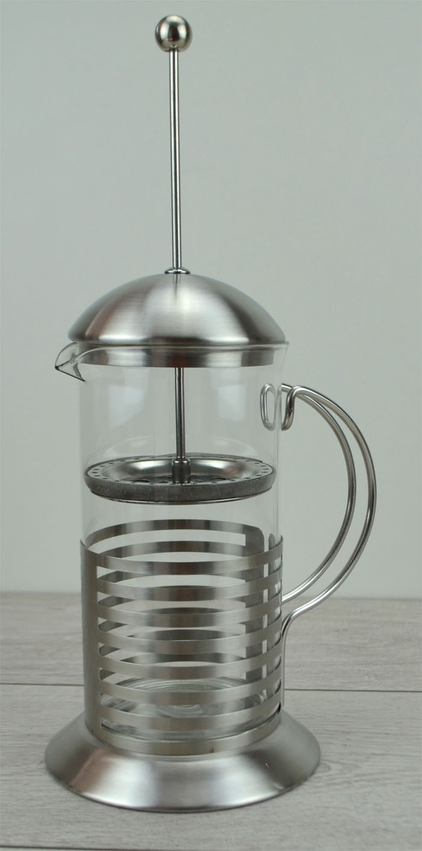 designer teekanne kaffeekanne kanne edelstahl glas 1 l. Black Bedroom Furniture Sets. Home Design Ideas