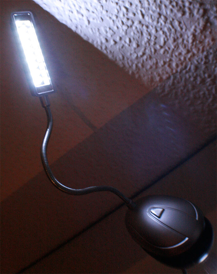 led tischleuchte 8 helle leds usb batterie 20cm ebay. Black Bedroom Furniture Sets. Home Design Ideas