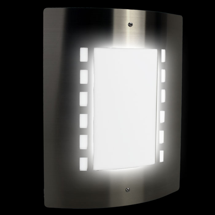 Edelstahl wandbeleuchtung au enbeleuchtung au enlampe for Lampen 4 you