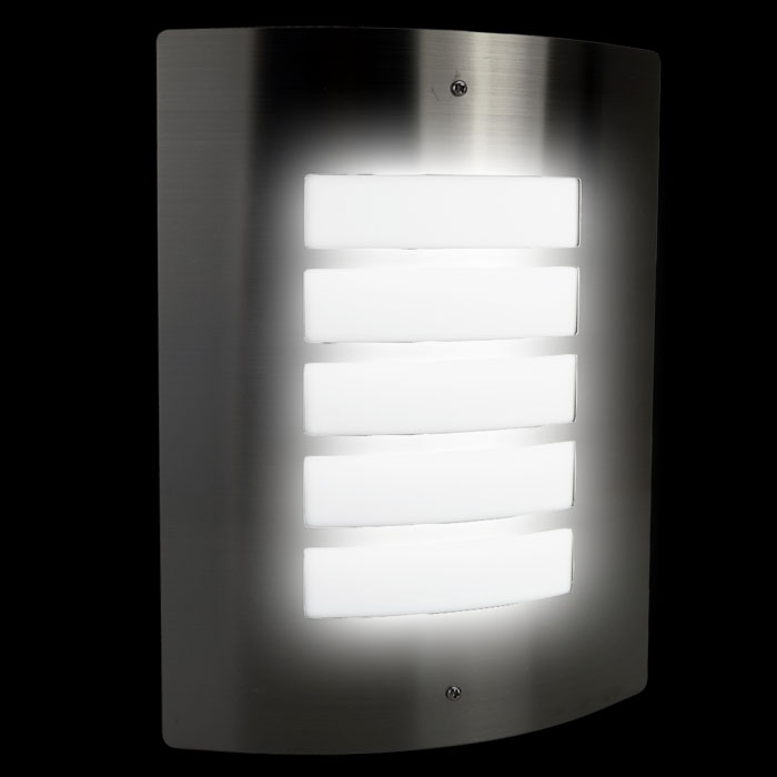 Wandleuchte wandlampe au enlampe au enleuchte edelstahl for Lampen 4 you