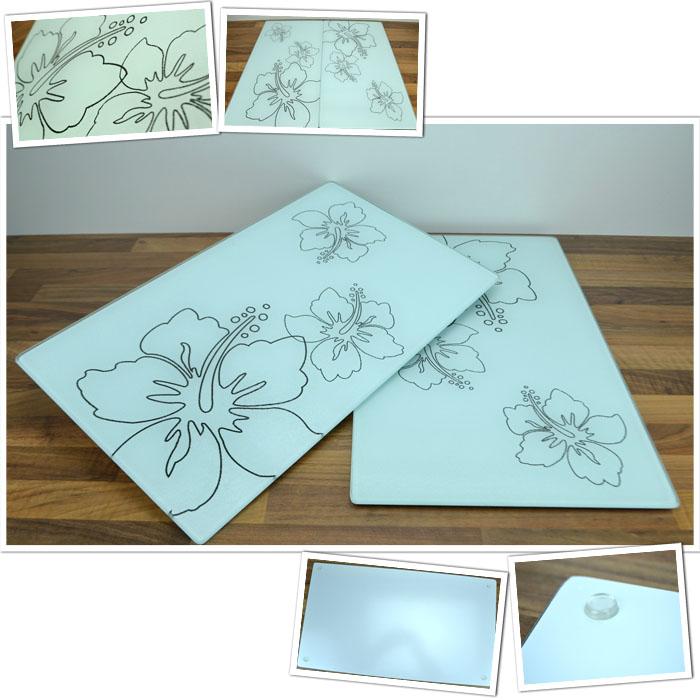 xl 2 x glas abdeckplatte herdabdeckplatte herdabdeckung platte schneidebrett neu ebay. Black Bedroom Furniture Sets. Home Design Ideas