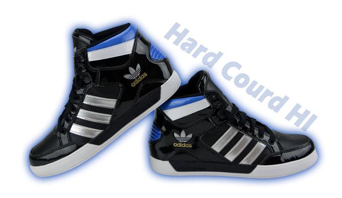adidas hard courd hi high top sneaker leder schuhe court. Black Bedroom Furniture Sets. Home Design Ideas