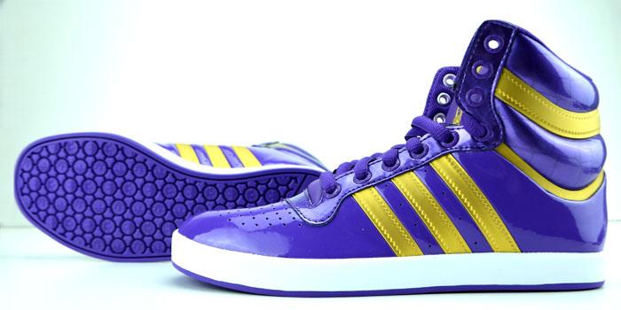 High Optik Details Weiß X Schuhe zu Gold Lila Adidas Lack Glanz Top Sneaker zjpLqUGSMV