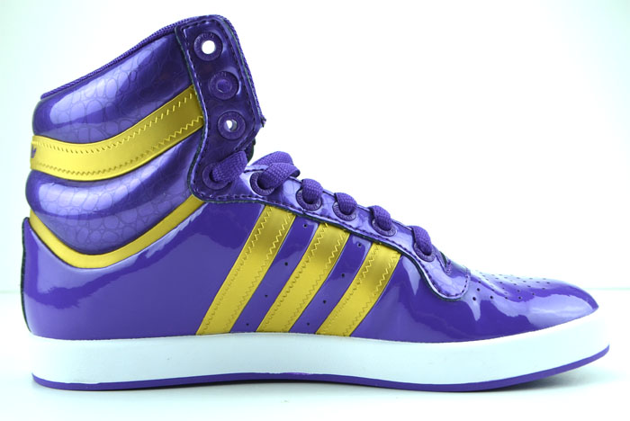 adidas top x high sneaker patent look shoes purple gold white gloss. Black Bedroom Furniture Sets. Home Design Ideas