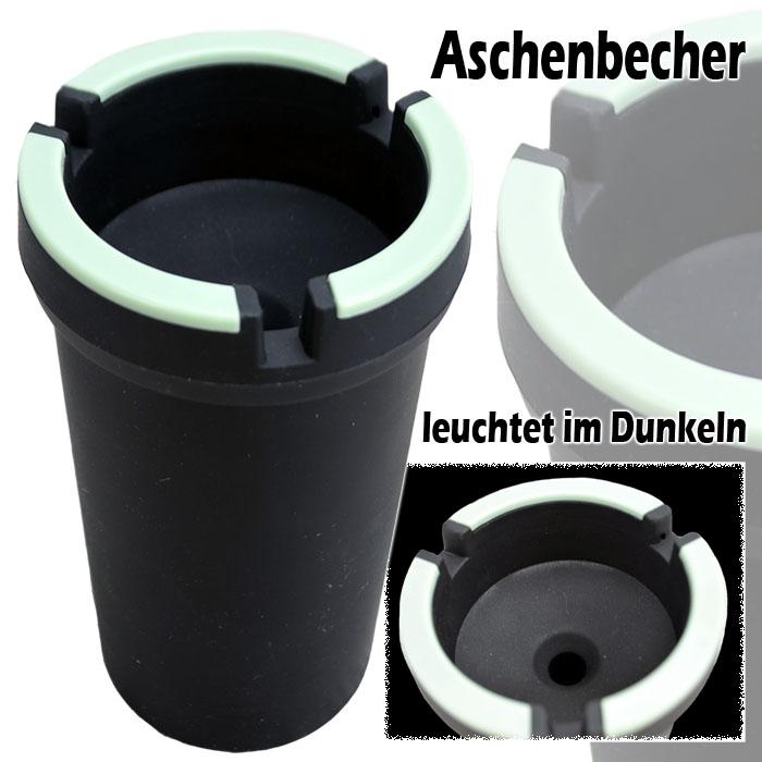 aschenbecher ascher leuchtet im dunkeln glutt ter. Black Bedroom Furniture Sets. Home Design Ideas