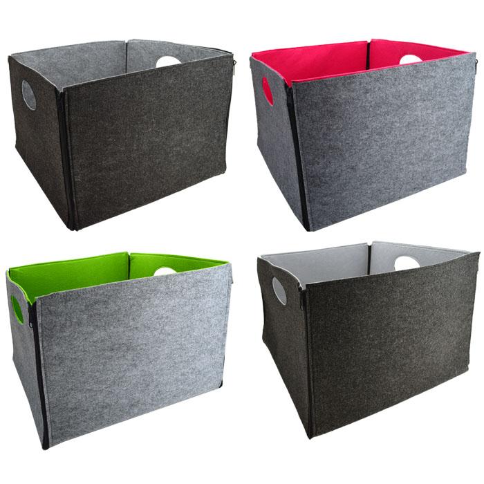 allwzeckbox aufbewahrungsbox faltbox box korb einkaufskorb multibox filzkorb ebay. Black Bedroom Furniture Sets. Home Design Ideas