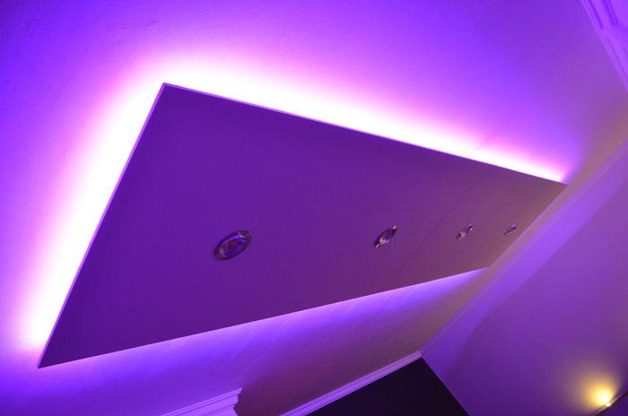 mega xxl deckenlampe led beleuchtung 390cm x 100cm. Black Bedroom Furniture Sets. Home Design Ideas