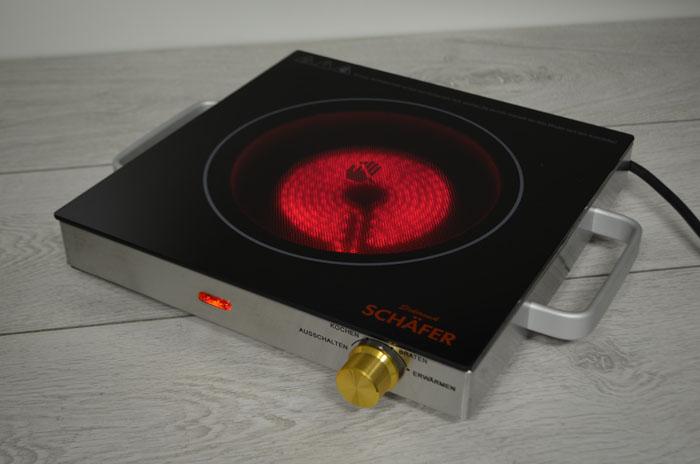 sch fer infrarot keramik glas kochplatte elektro camping. Black Bedroom Furniture Sets. Home Design Ideas