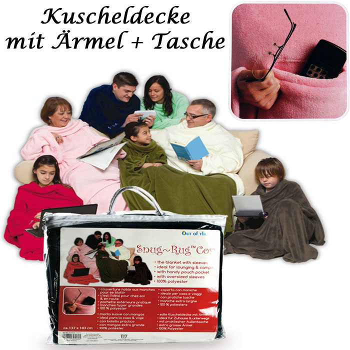 snug rug xxl kuscheldecke m rmeln decke rmeldecke tagesdecke zudecke tasche ebay. Black Bedroom Furniture Sets. Home Design Ideas