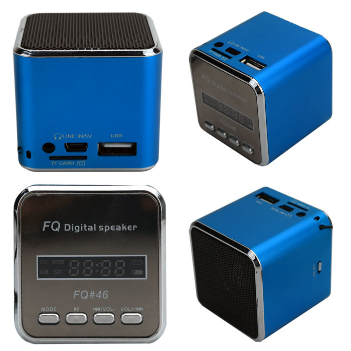 blau lautsprecher radio musikbox soundstation mp3 usb. Black Bedroom Furniture Sets. Home Design Ideas