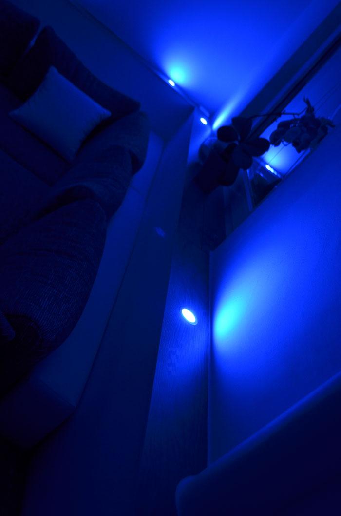Led einbauleuchte einbauleuchten lampe 55mm ebl slim rgb for Led einbauleuchten