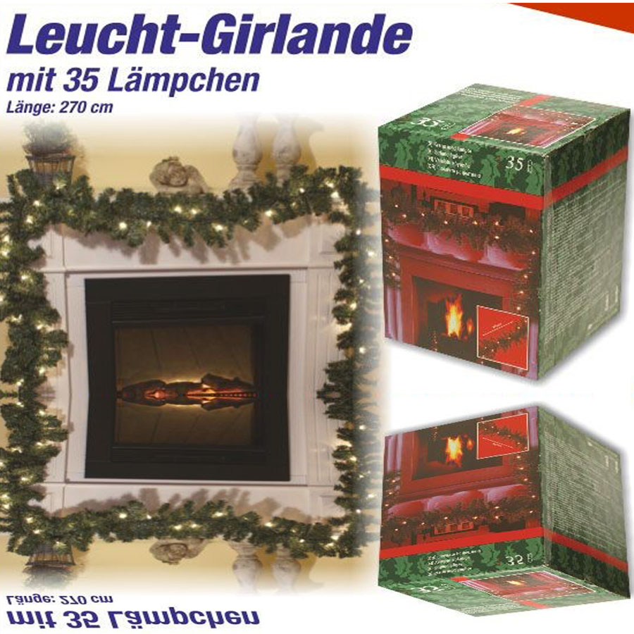 40 led weihnachtsgirlande lichterkette tannengirlande girlande weihna. Black Bedroom Furniture Sets. Home Design Ideas