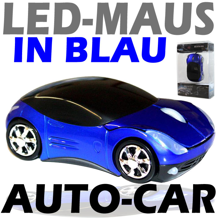 led auto car maus mouse f r pc computer laptop. Black Bedroom Furniture Sets. Home Design Ideas