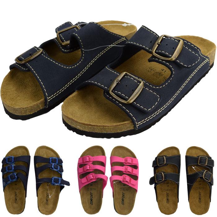 freizeitsandalen korksandalen sandalen pantoletten hausschuhe schuhe leder 37 44 ebay. Black Bedroom Furniture Sets. Home Design Ideas