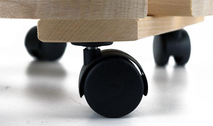 pflanzenroller 120kg blumenroller pflanzenuntersetzer rollbrett rund buche ebay. Black Bedroom Furniture Sets. Home Design Ideas