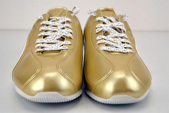 Puma Esito Metallic WP Metallic Gold White Sneaker Turnschuh Damen Herren Schuhe