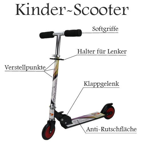 scooter kinderroller bis 50kg roller tretroller cityroller. Black Bedroom Furniture Sets. Home Design Ideas
