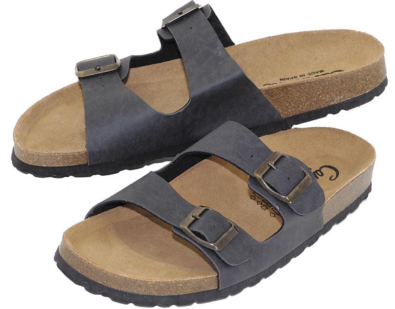 freizeitsandalen 36 44 damen herren kork sandalen. Black Bedroom Furniture Sets. Home Design Ideas