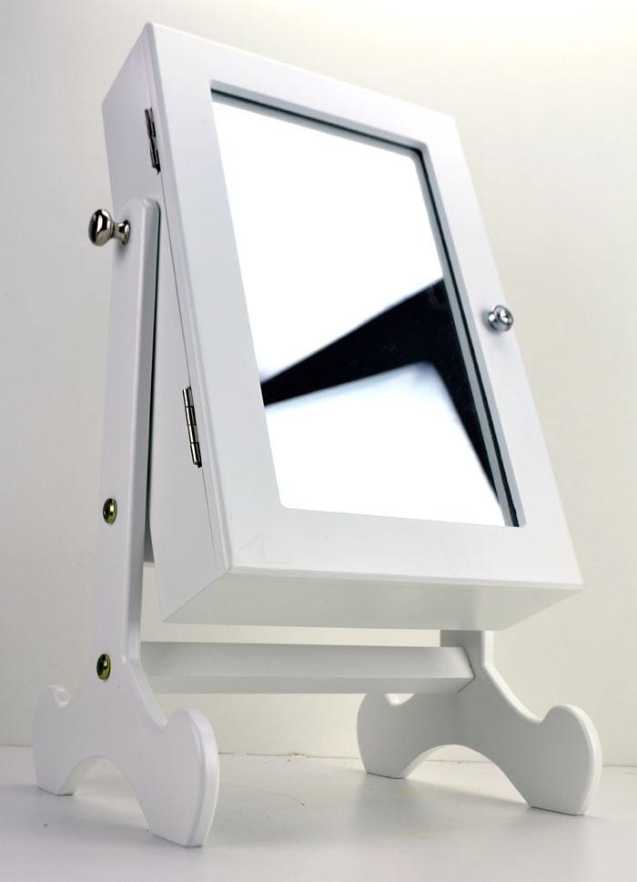 schmuckkasten schmuckschrank schmuckk stchen spiegel schminkspiegel standspiegel ebay. Black Bedroom Furniture Sets. Home Design Ideas