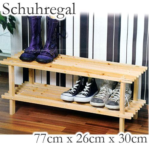 schuhregal 2 ablagen holzregal schuhschrank schuhablage. Black Bedroom Furniture Sets. Home Design Ideas