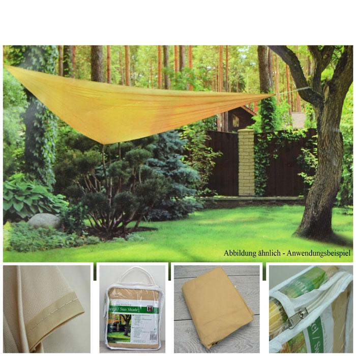 xxl 5x5x5 sonnensegel sonnenschutz dreieck seckel. Black Bedroom Furniture Sets. Home Design Ideas