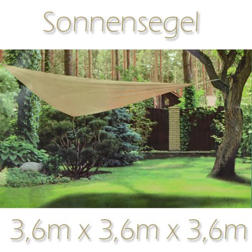 xxl 3 6m sonnensegel sonnenschutz segel beschattung schattensegel dreieck 62315 ebay. Black Bedroom Furniture Sets. Home Design Ideas