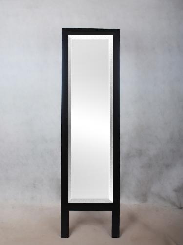 standspiegel spiegel holzrahmen weiss o schwarz 160x45cm modern neu. Black Bedroom Furniture Sets. Home Design Ideas