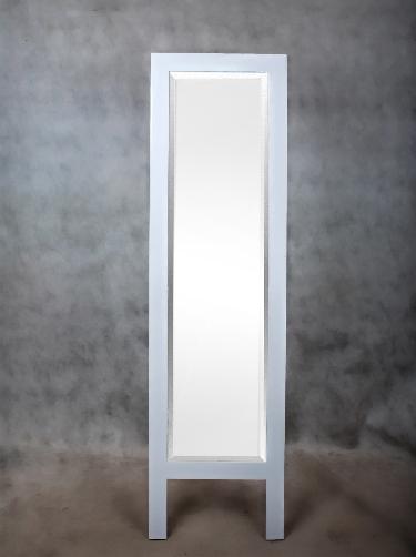 miroir debout miroir bois blanc o noir 160x45cm modern neuf ebay. Black Bedroom Furniture Sets. Home Design Ideas