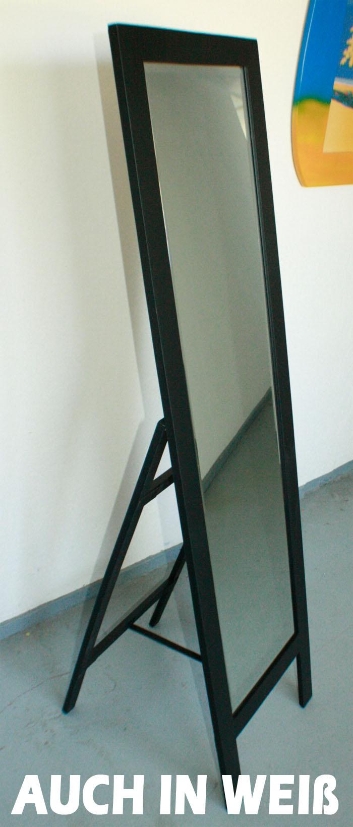 standspiegel spiegel holzrahmen weiss o schwarz 160x45cm. Black Bedroom Furniture Sets. Home Design Ideas