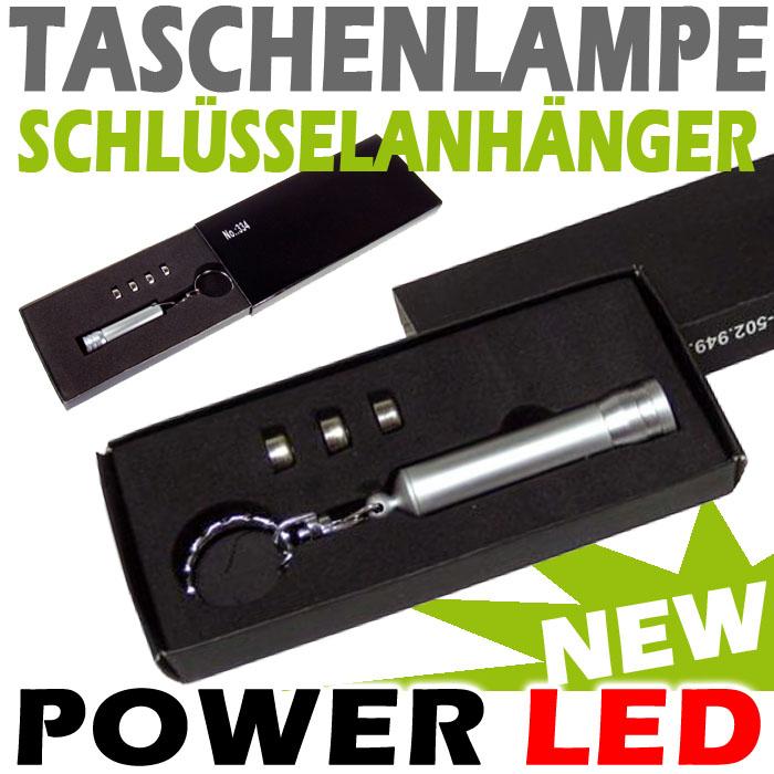 power led taschenlampe lampe aluminium schl sselanh nger blaue led ebay. Black Bedroom Furniture Sets. Home Design Ideas