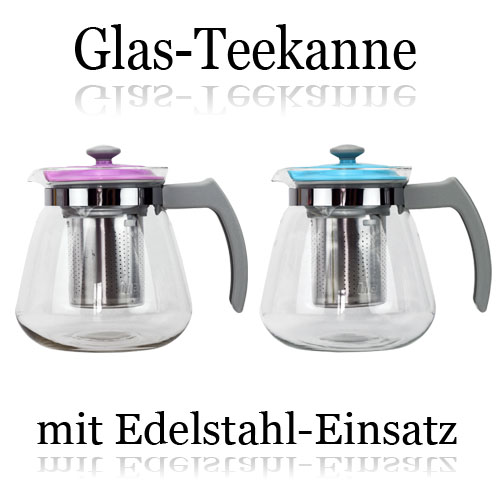 glasteekanne 900ml teekanne kaffeekanne edelstahl teefilter glaskanne ebay. Black Bedroom Furniture Sets. Home Design Ideas