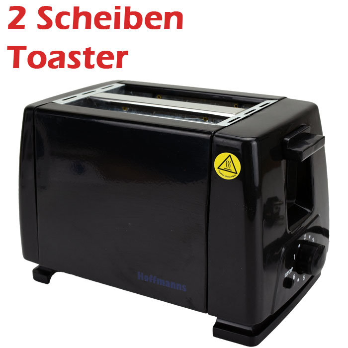 2 scheiben toaster r ster toastautomat toast sandwich br tchen 700 800 w schwarz ebay. Black Bedroom Furniture Sets. Home Design Ideas