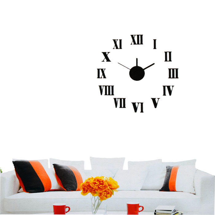design wanduhr uhr k chenuhr b rouhr quarzuhr wandtattoo dekouhr deko ebay. Black Bedroom Furniture Sets. Home Design Ideas