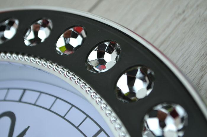 moderne designer wanduhr k chenuhr uhr glasuhr baduhr diamant gl. Black Bedroom Furniture Sets. Home Design Ideas