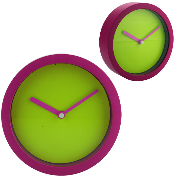 design wanduhr k chenuhr uhr b rouhr quarzuhr wohnzimmeruhr neon pink gr n ebay. Black Bedroom Furniture Sets. Home Design Ideas