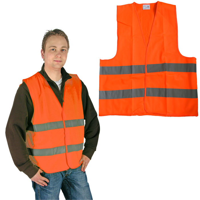1 x orange warnweste pannenweste en 471 unfallweste sicherheitsweste weste. Black Bedroom Furniture Sets. Home Design Ideas