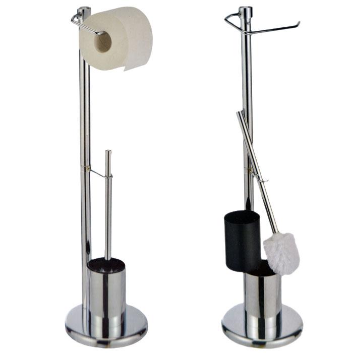 WC Garnitur Klopapierrollenhalter Bürstengarnitur Klobürstenhalter Edelstahl