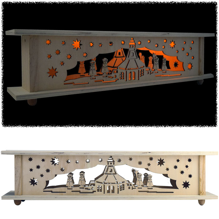 57 cm led weihnachtslandschaft holz weihnachtsbeleuchtung pyramide deko ebay. Black Bedroom Furniture Sets. Home Design Ideas
