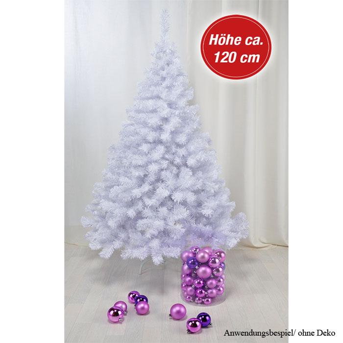 120cm wei k nstlicher weihnachtsbaum baum tannenbaum - Schneiender weihnachtsbaum klein ...