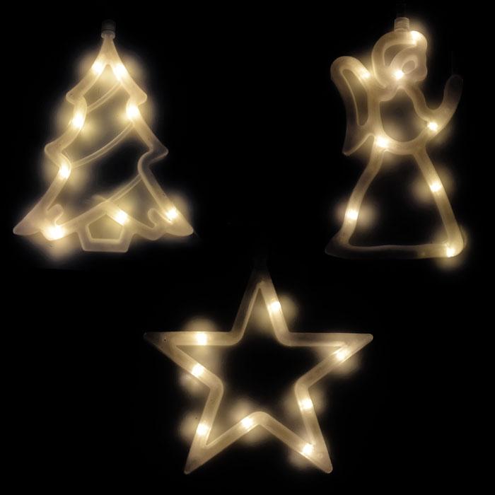 led fensterbild silhouette fenstersilhouette lichterkette weihnachtsbeleuchtung ebay. Black Bedroom Furniture Sets. Home Design Ideas